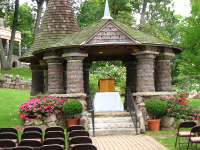 The Gazebo On Heart Island Is Ideal For  A Romantic Wedding