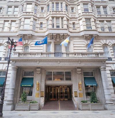 Entrance to the Bellevue-Stratford Hotel. Philadelphia, Pa.