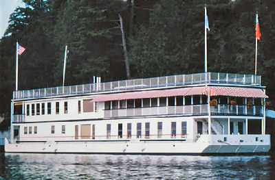 La Duchesse. Two-story houseboat built exclusively for George Boldt.
